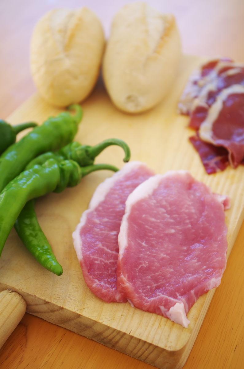 Ingredientes para Serranito