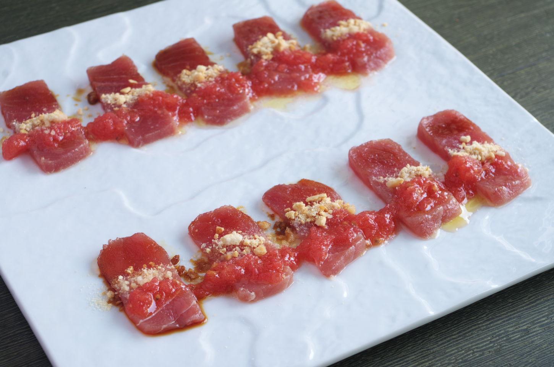 Sashimi con Tomate y AOVE