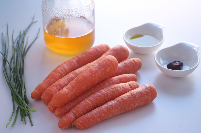 Ingredientes para Receta de Cintas de Zanahoria con Miso