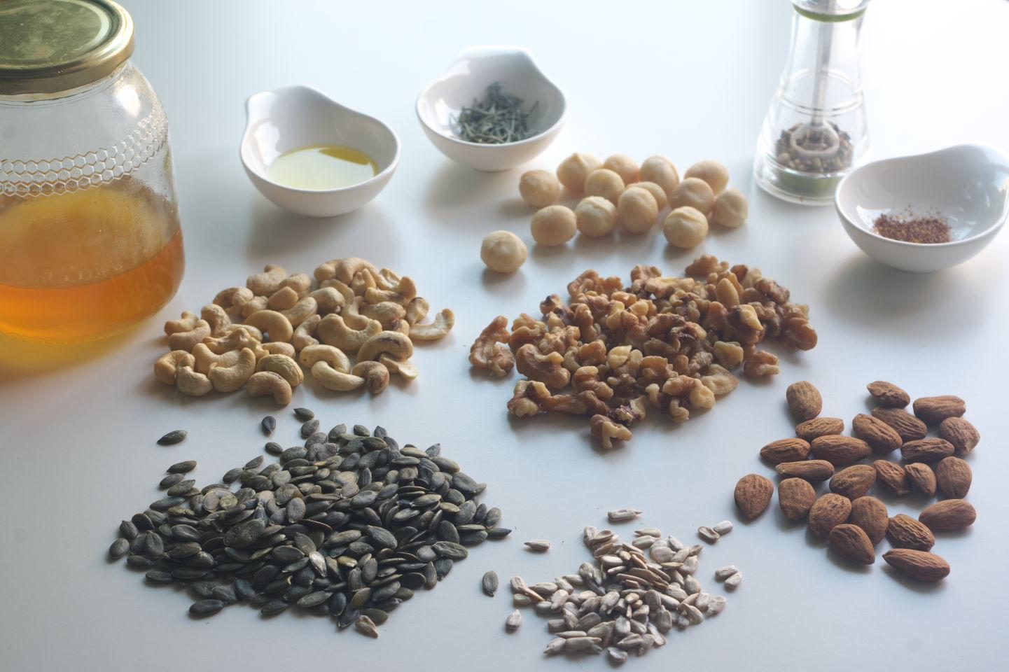 Ingredientes para preparar Frutos Secos Especiados