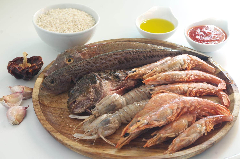 Ingredientes para la receta de torta de arroz socarrat